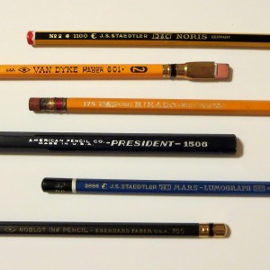 Pencils of various ages. Mostly old.