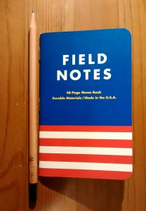 Before my pack was gutted, I scored one of these patriotic notebooks.