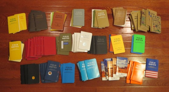 114 Full Field Notes, in no particular order. (Click to enlarge)