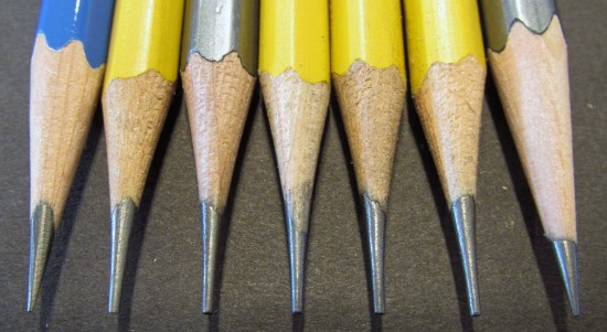 The Five El Casco-Sharpened Pencils in the Middle Need a Bath.