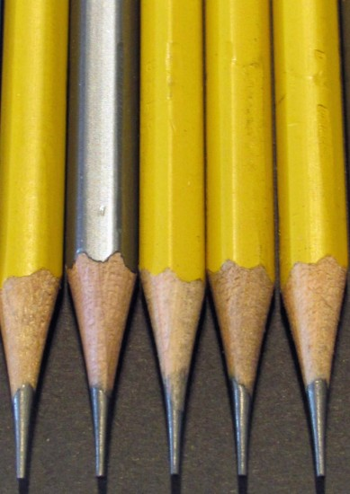 Nice Points, Grungy Wood and Dented Pencils