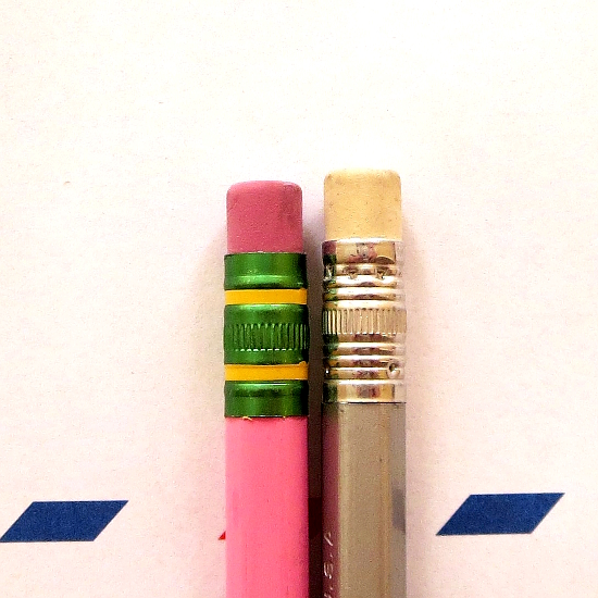 Pink Target Ticonderoga and a silver railroad pencil from Ana, Chair at Well-Appointed Desk.